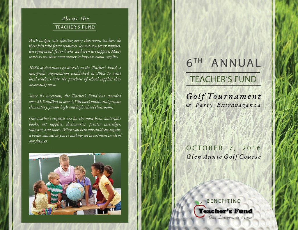 Thinking About Sponsoring Our Golf Tournament?